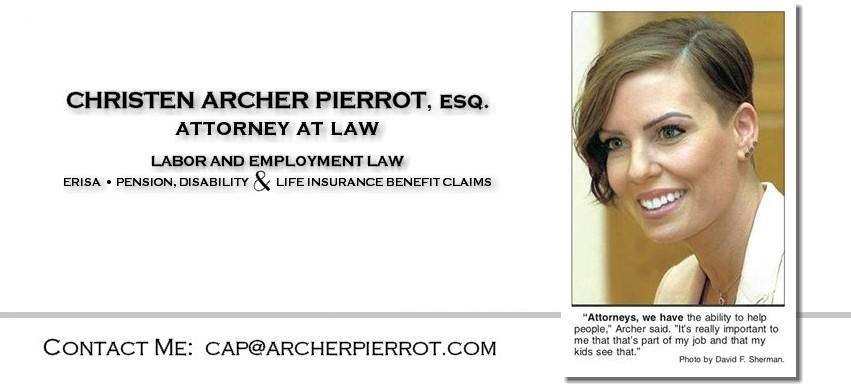 Christen Archer Pierrot, Labor and Employment Attorney, ERISA, Pensions and Disability